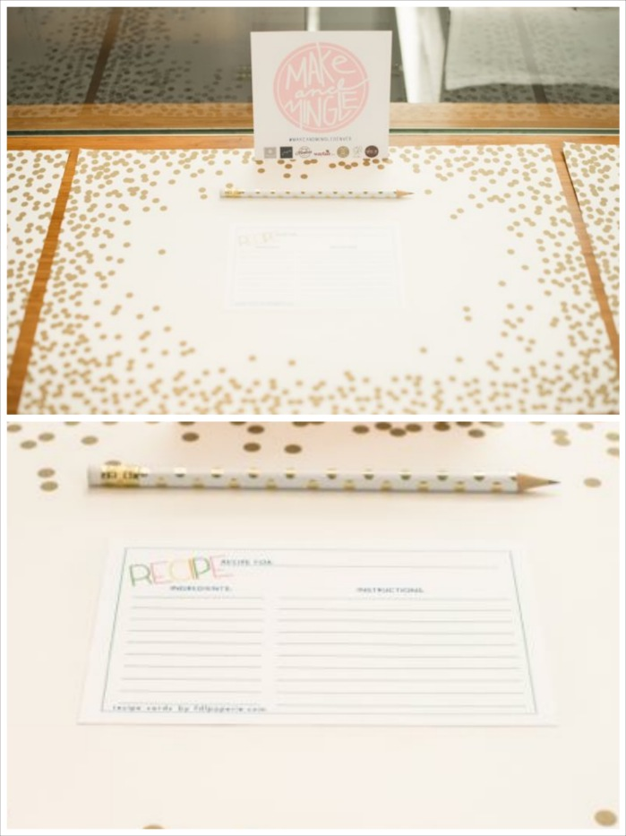 make-mingle-gold-polka-dot-recipe-card-place-setting
