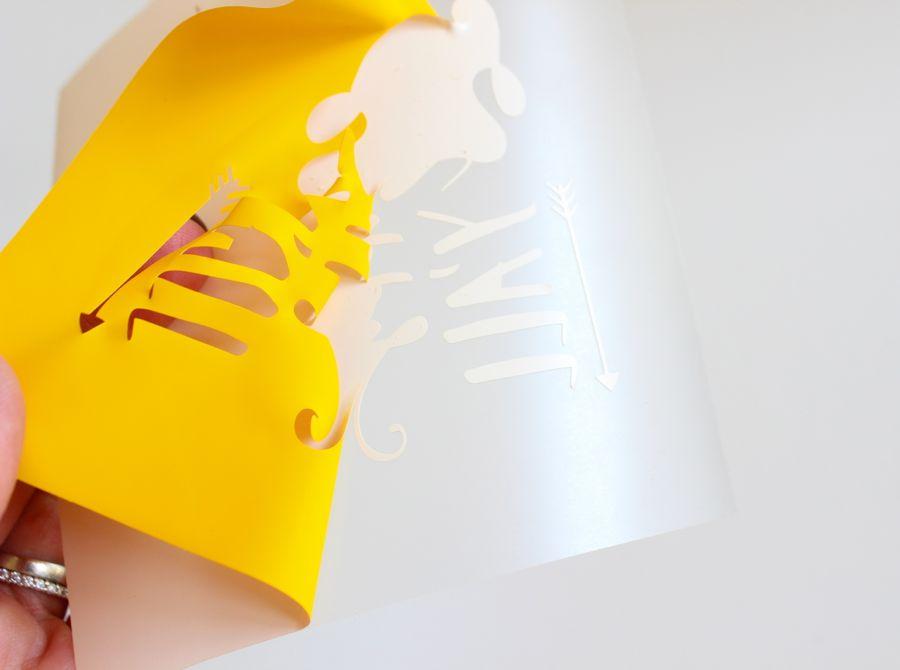 yellow heat transfer craft project