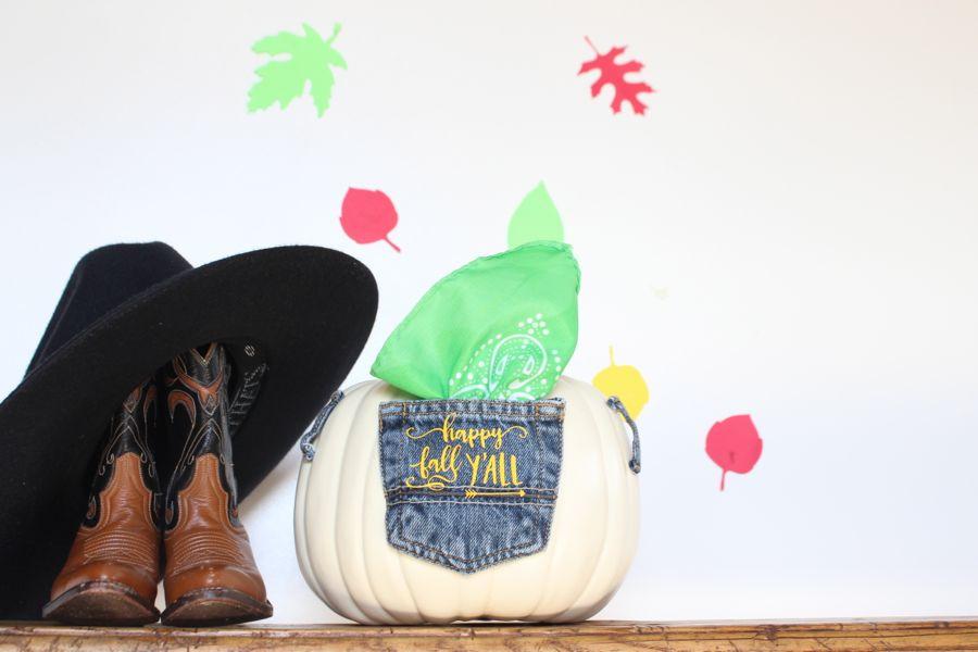 diy-jean-pocket-pumpkin-green-bandana-country-cowboy-boots