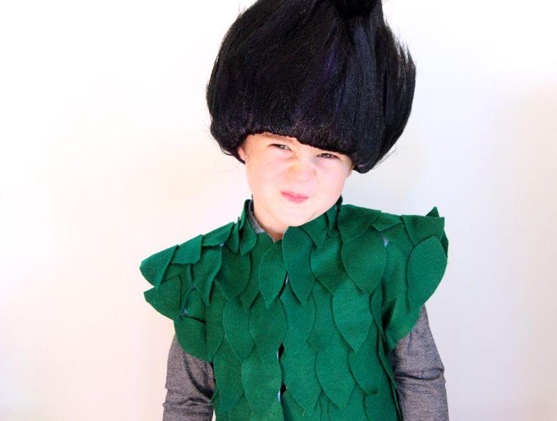 Diy trolls halloween costume trolls costume branch leaf vest solutioingenieria Image collections