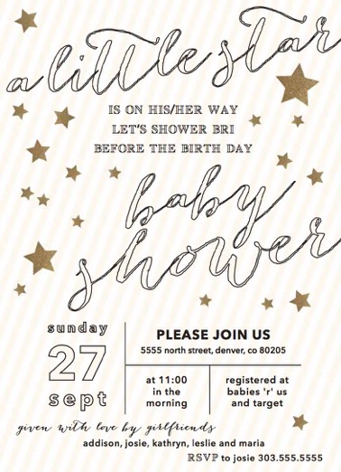 star baby shower-invitation