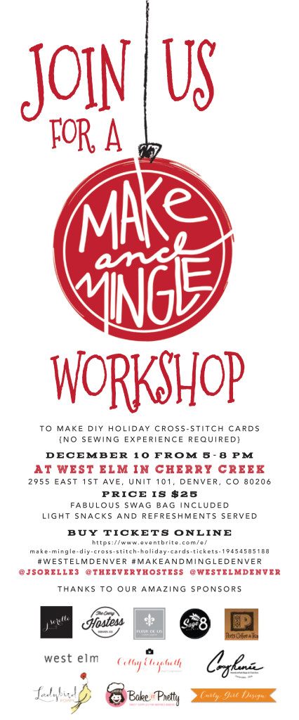make-and-mingle-workshop-west-elm-holiday-event-cross-stitch-cards-colorado