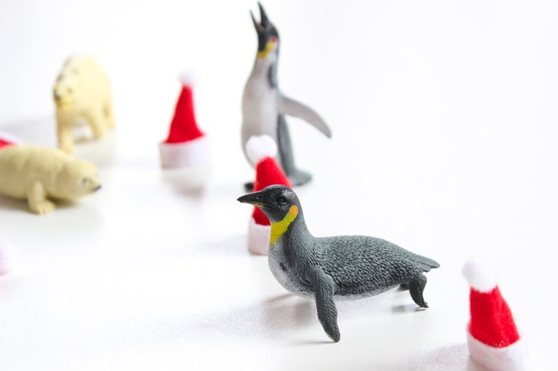 penguins-mini-santa-hats