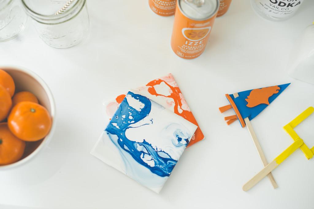bronco-party-blue-orange-super-bowl-50-football-marbled-coasters