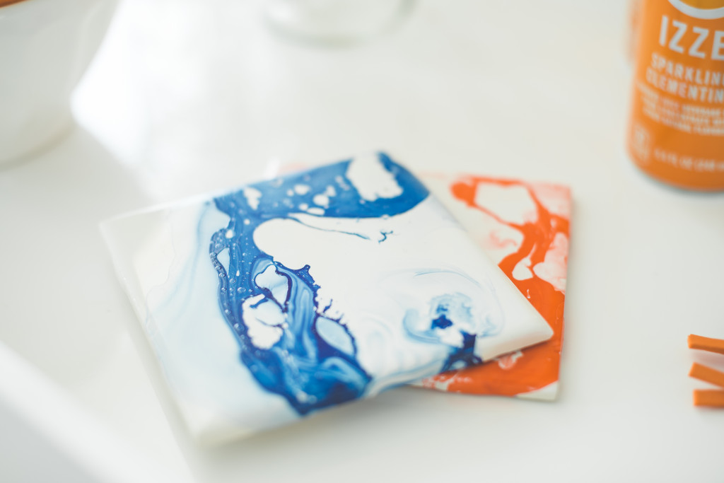 DIY-marbled-coasters-blue-orange-nail-polish-bronco-party-for-the-ladies