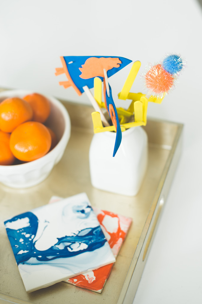 oranges-party-serving-tray-broncos-diy-marbled-coasters