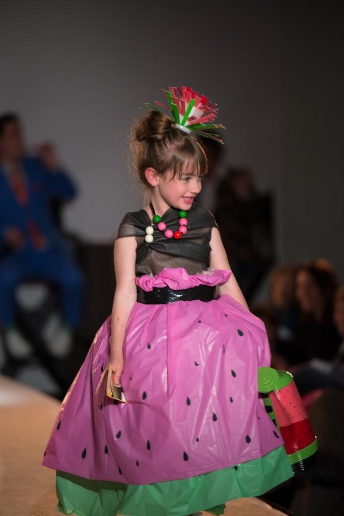 watermelon-girl-pink-green-summer-runway-show