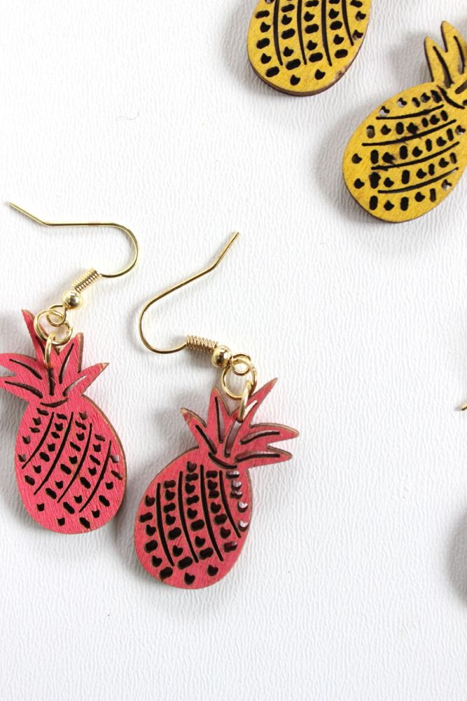 diy-pineapple-earrings-pink-yellow-green