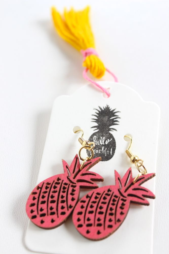 diy-pineapple-earrings-pink-yellow-tassels