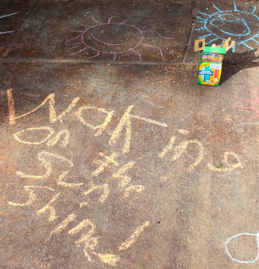 chalk-walking-on-sunshine