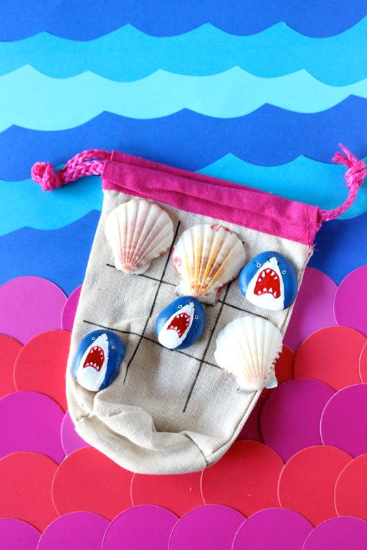 shark-mermaid-tic-tac-toe-diy-kids-game