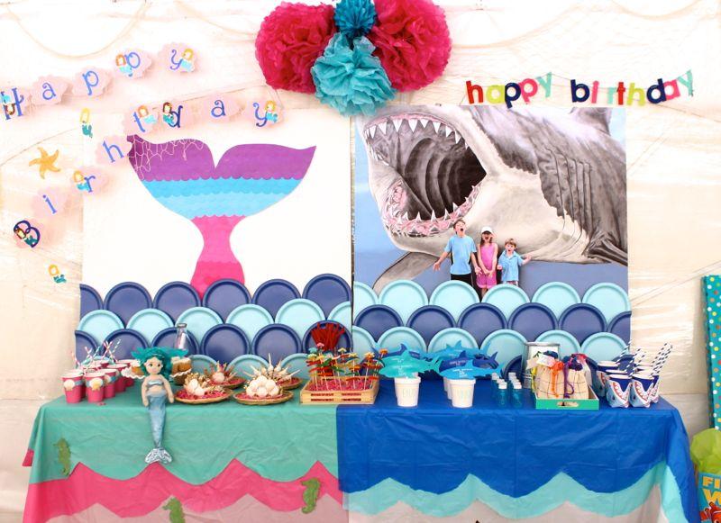 party-mermaid-shark-under-the-sea-boy-girl-party-diy