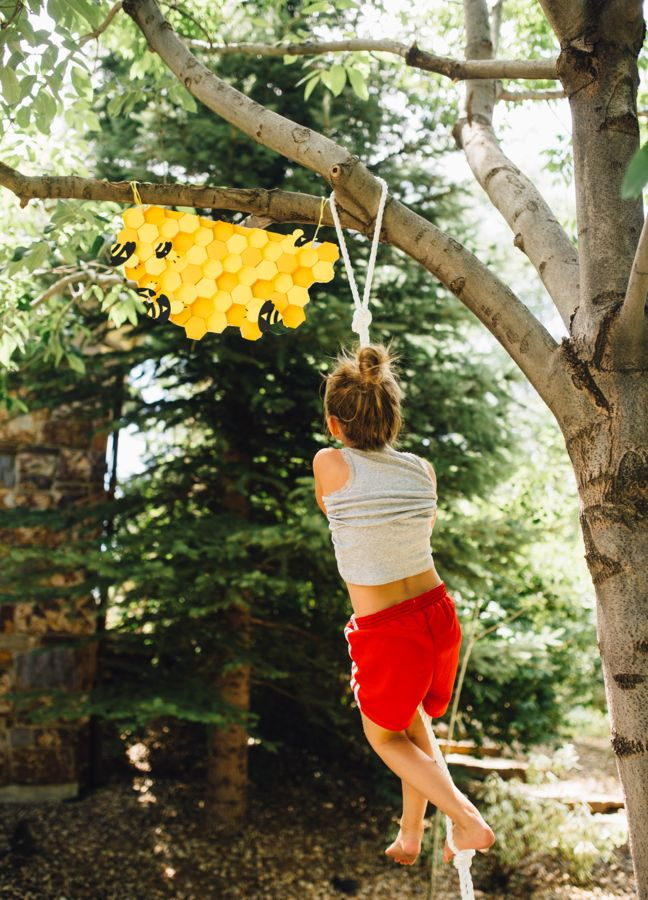 diy-rope-climb-for-kids-honeycomb-bee-hive-paper-craft