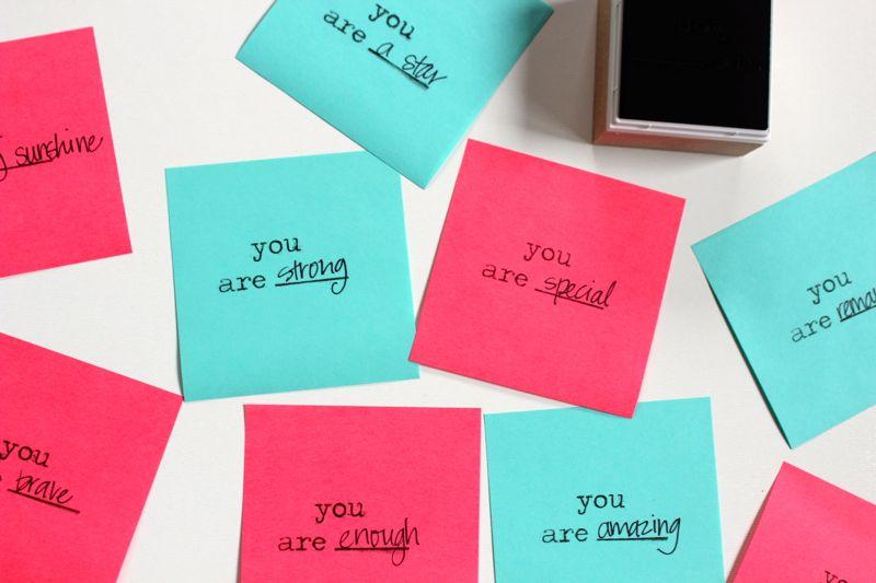 post-it-notes-teal-pink-diy-stamp