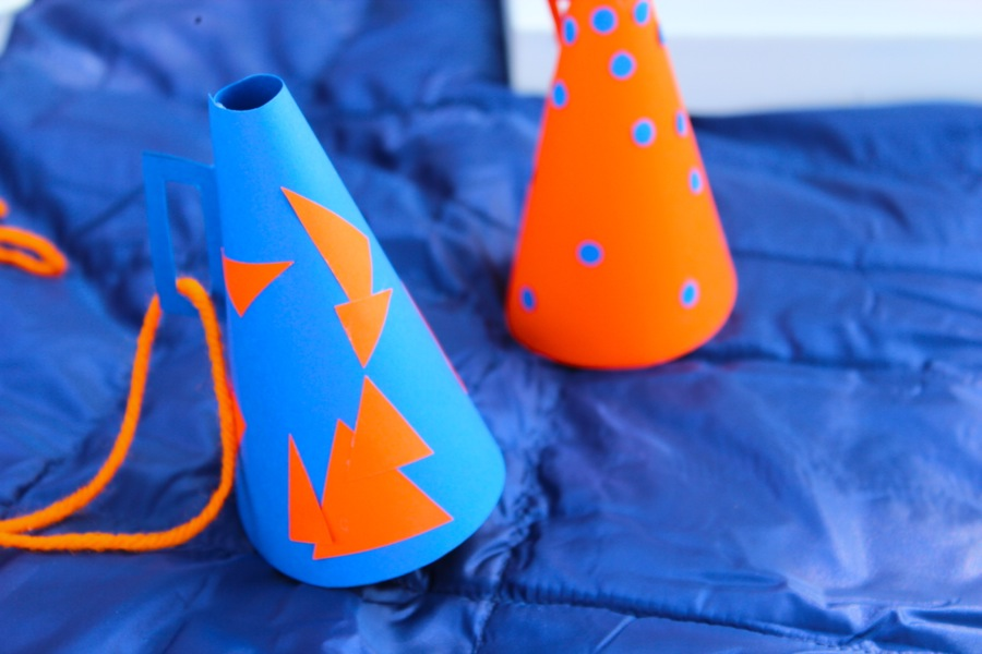 diy-paper-megaphone-orange-and-blue-necklace