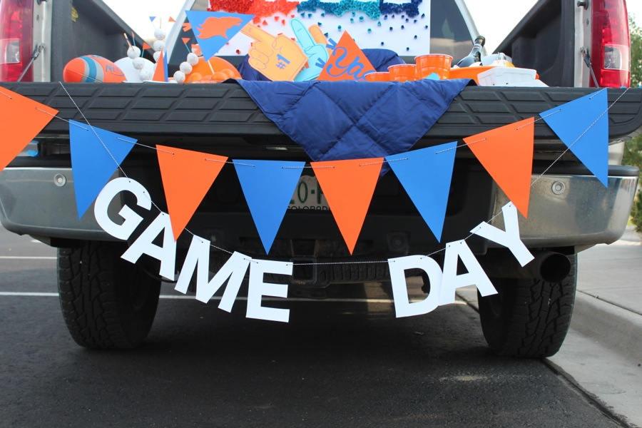 game-day-banner-orange-and-blue-pennant-flag-banner-bronco-tailgate-party-diy-paper-decor
