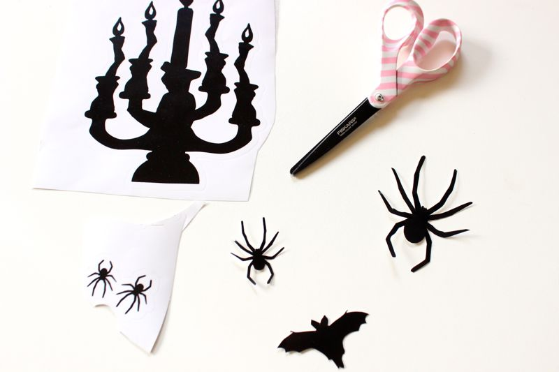 silhouette-black-halloween-stickers-and-scissors