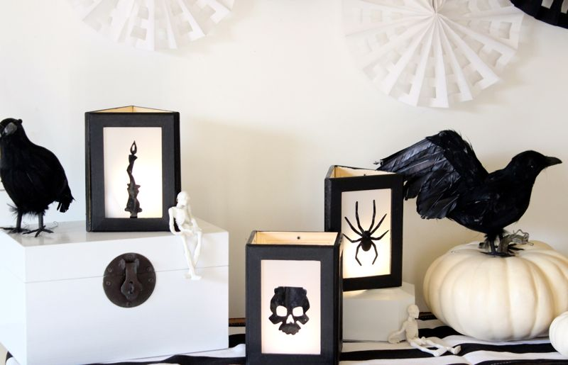 diy-lanterns-for-halloween-with-black-spider-and-bat-silhouettes
