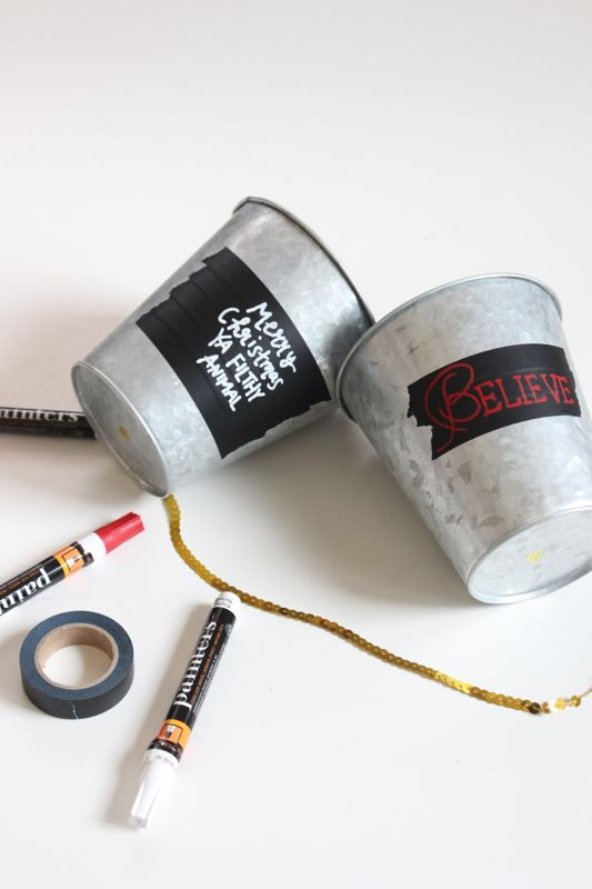 galvanized-pot-black-washi-tape-markers-christmas