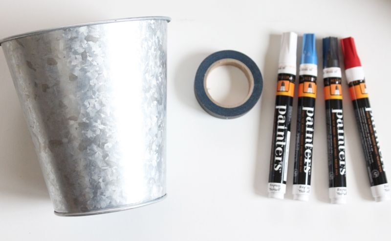 galvanized-pot-black-washi-tape-markers