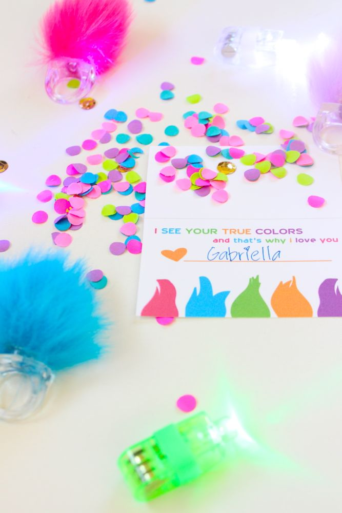 trolls hair-ring-confetti-diy-valentine