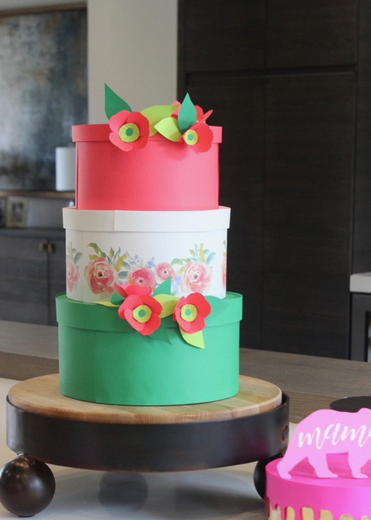 three-tier-paper-cake-on-a-cake-stand