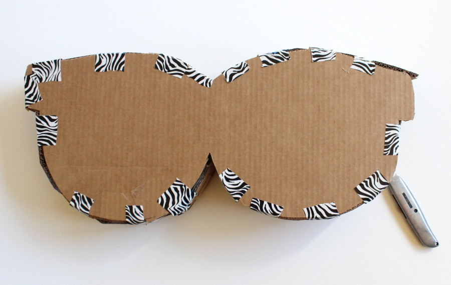 cardboard-sunglasses-cut-out-with-zebra-duct-tape