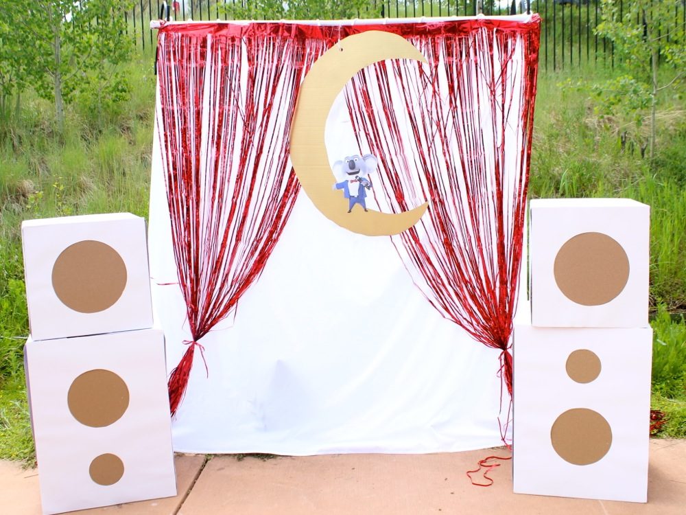 diy-sing-stage-with-diy-speakers-and-a-buster-moon-koala
