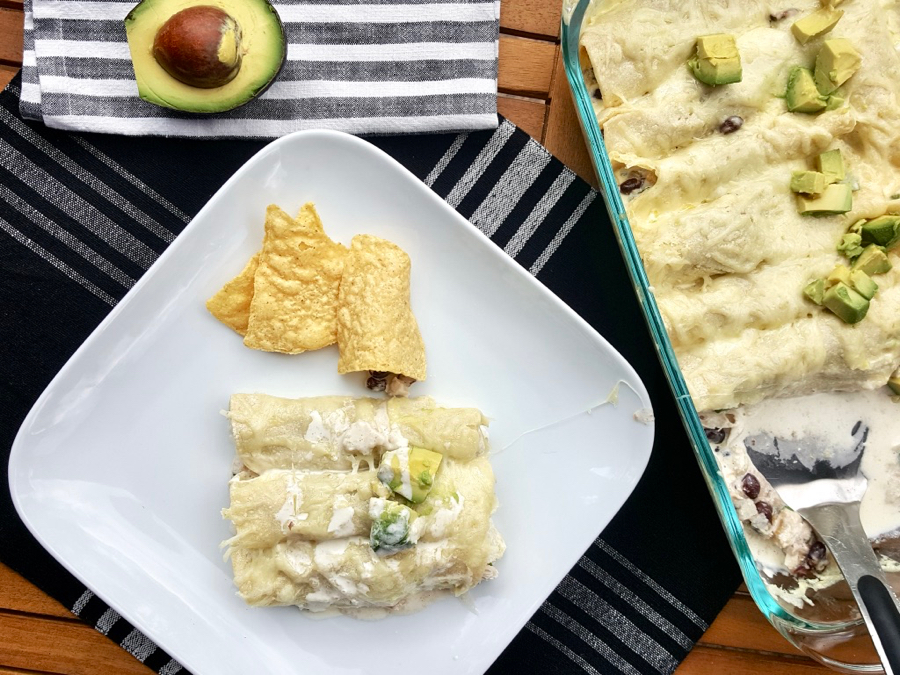 creamy chicken enchiladas-family dinner