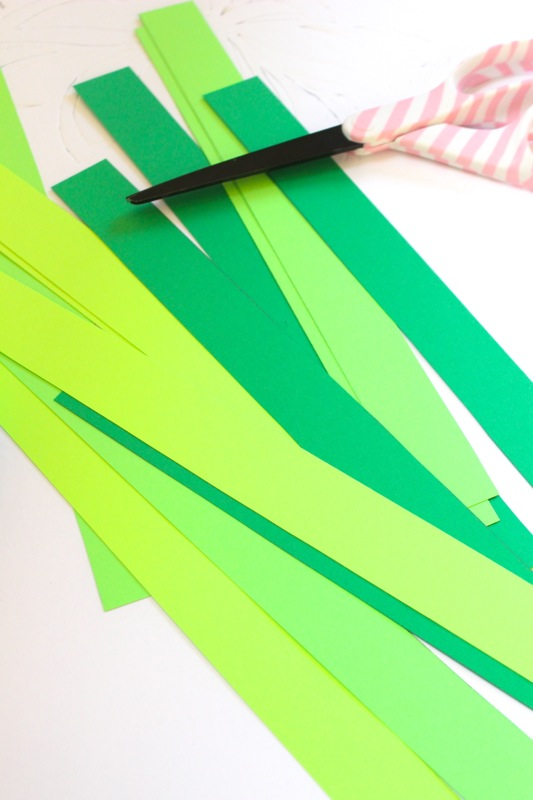 strips-of-green-paper