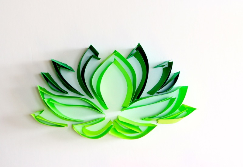 green-paper-lotus-flower