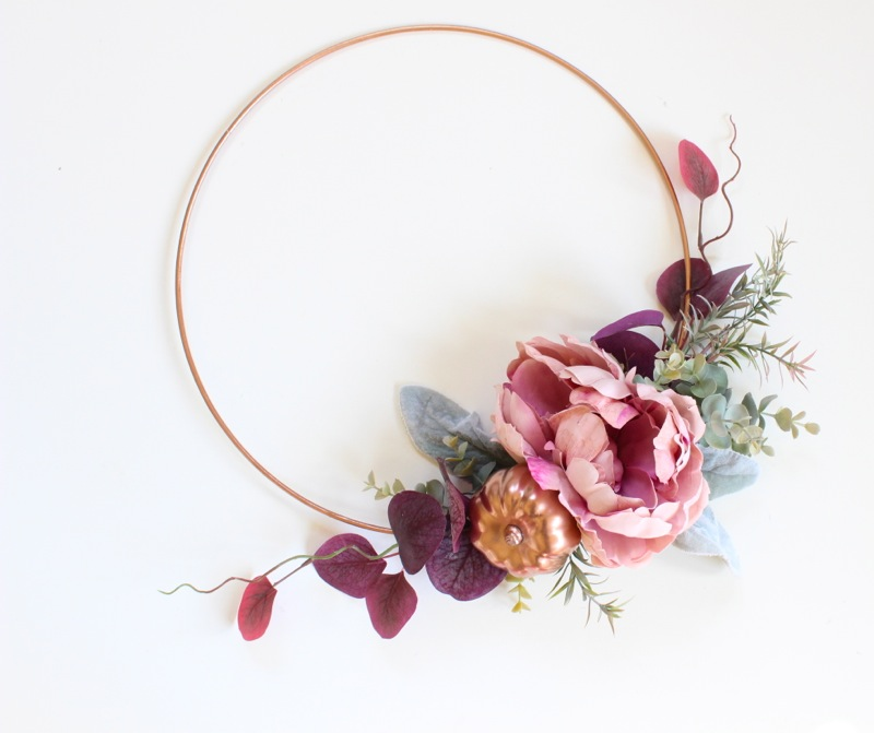 diy-fall-wreath-with-copper-ring-and-peony