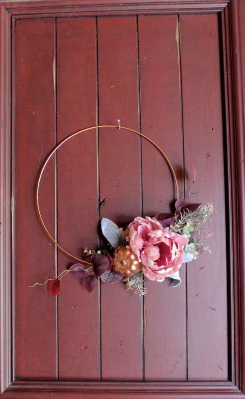 diy-modern-fall-wreath-with-copper-ring-and-peony