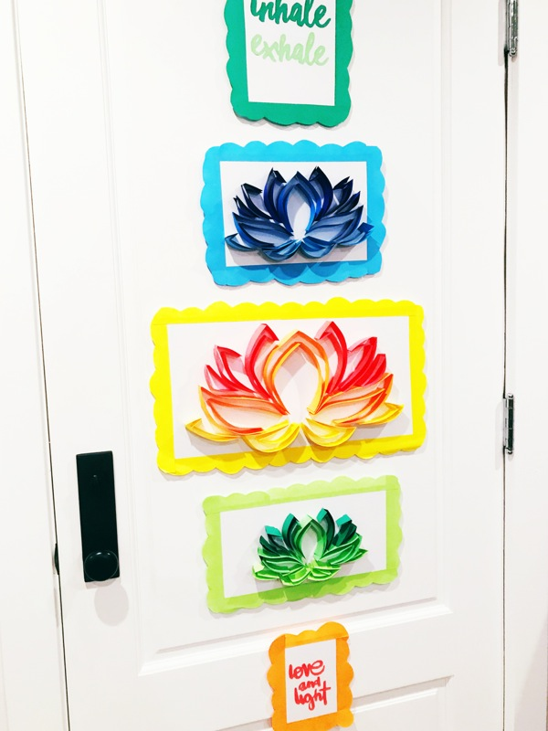 diy-lotus-flower-art-on-doors
