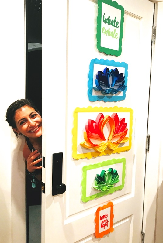 zen-ladies-night-with-diy-paper-art-lotus-flowers