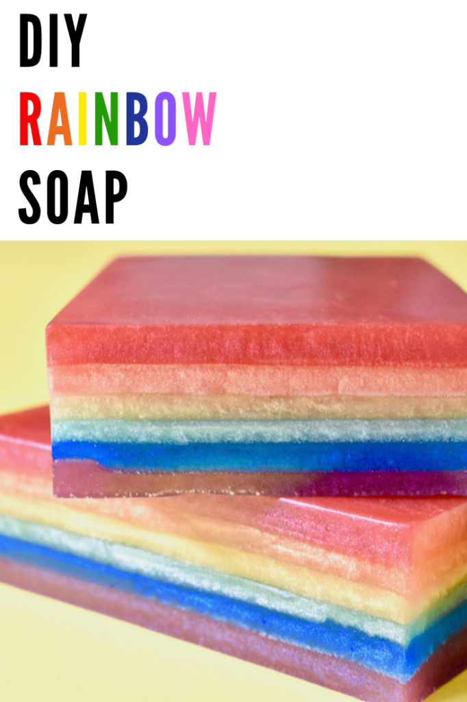 DIY RAINBOW SOAP for St. Patrick's Day
