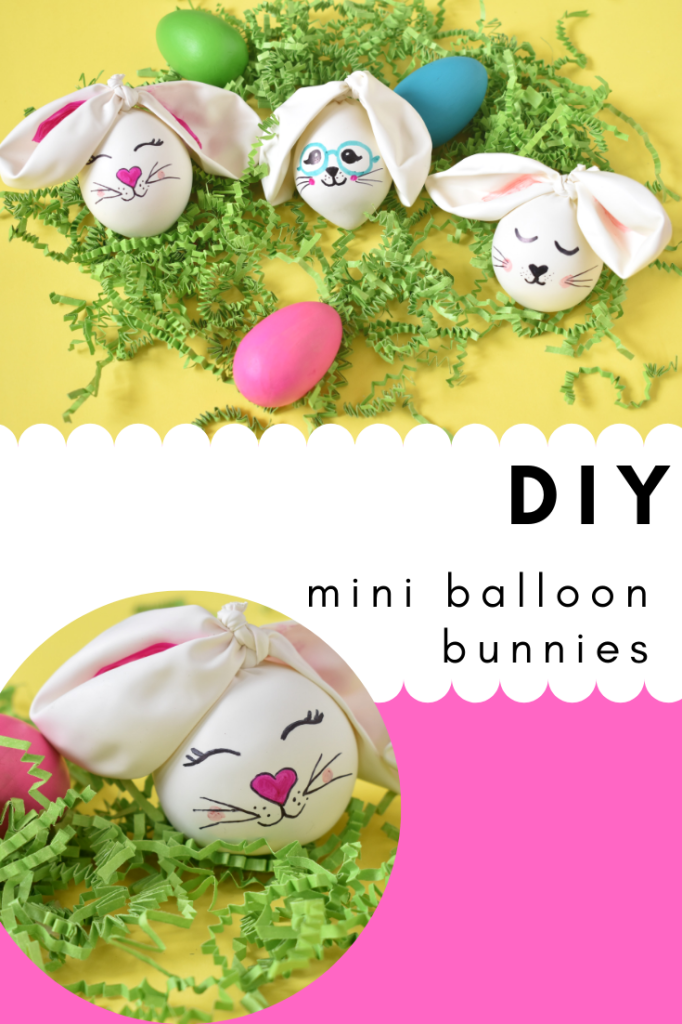 diy mini balloon bunnies-spring craft for moms and kids