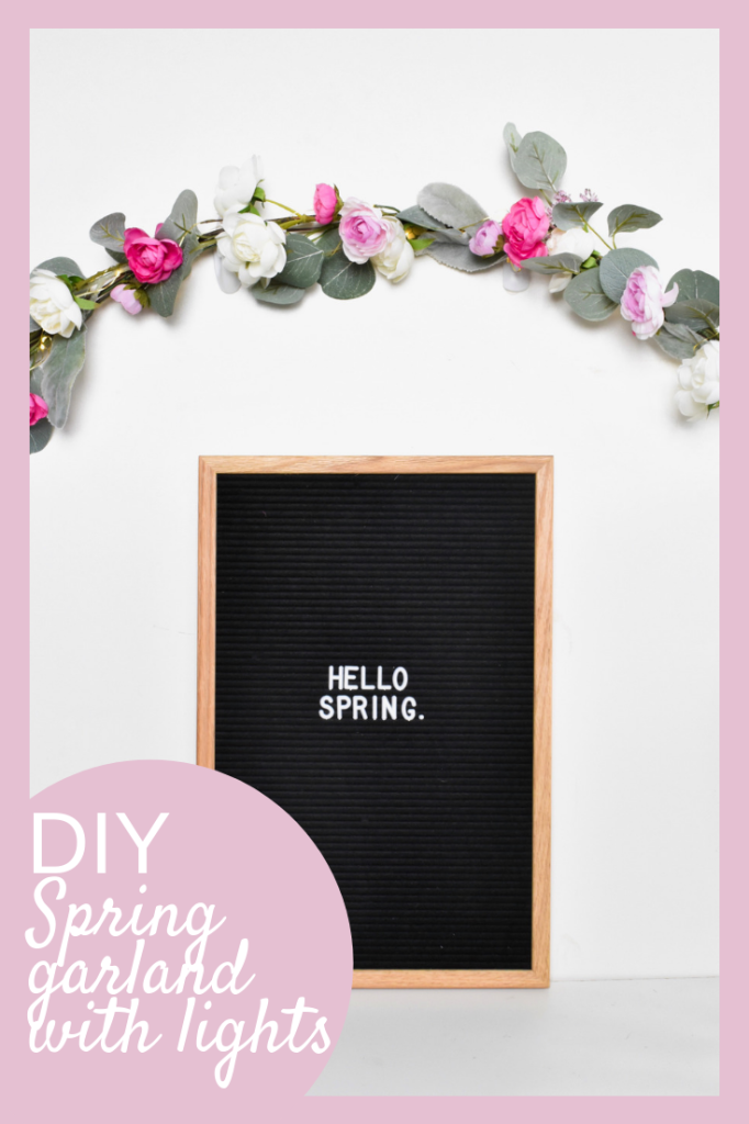spring DIY string light garland