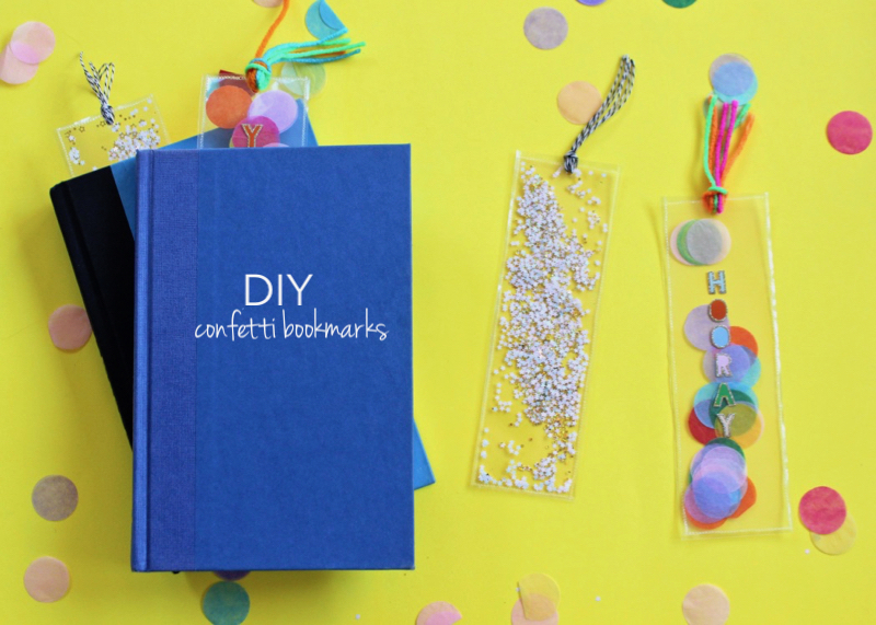 diy-confetti-bookmark-blue-book