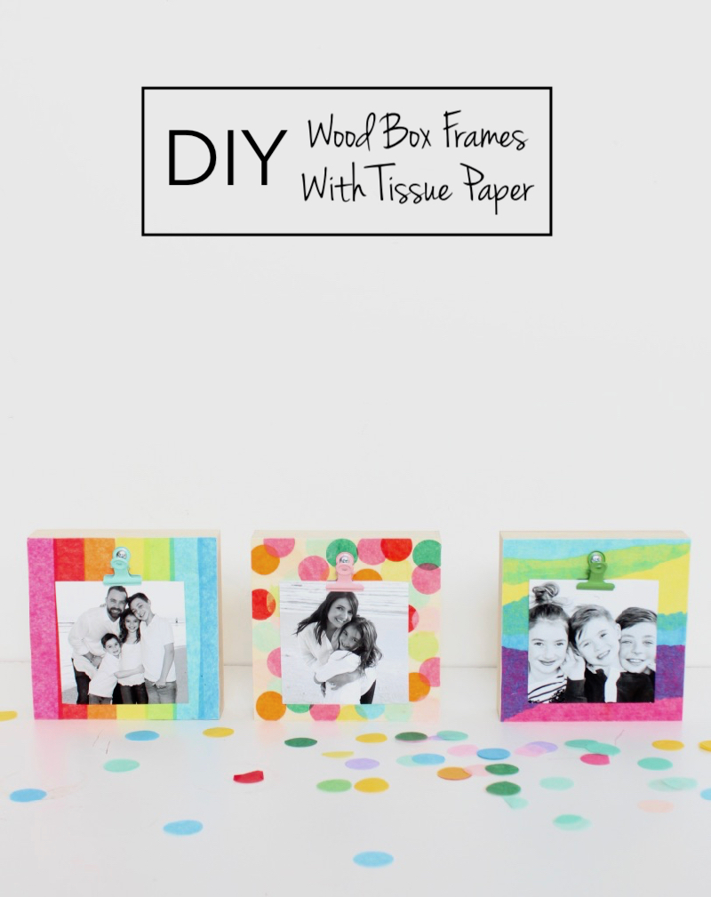 diy-wood-box-frames-with-tissue-paper-mod-podge-kids-art-project