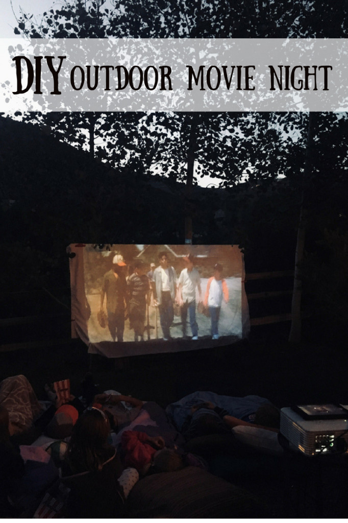 DIY outdoor movie night-the-sandlot