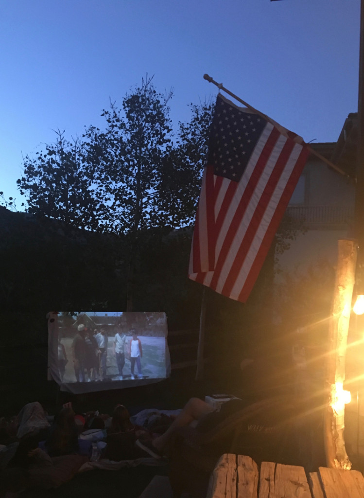 the sandlot-diy-outdoor-movie-night-american-flag