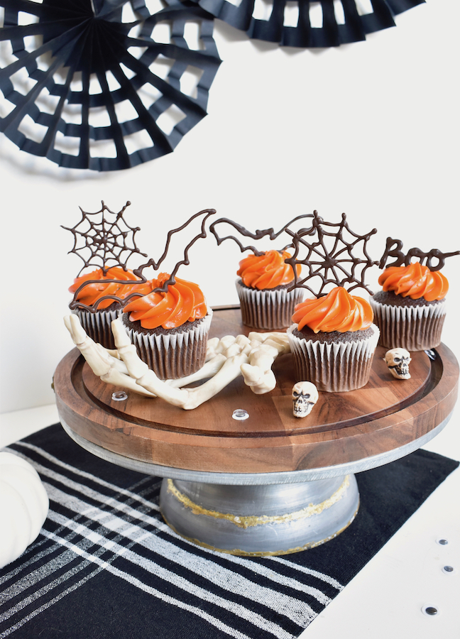 chocolate cupcake toppers - halloween dessert