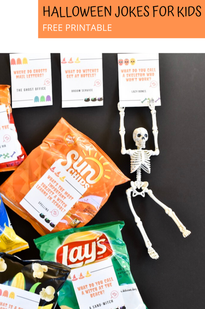 halloween jokes for kids-school halloween snacks-free printable