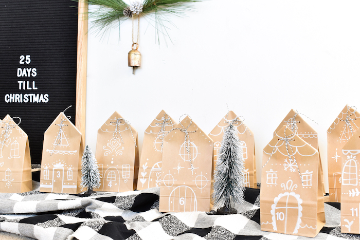 diy brown paper bag gingerbread houses