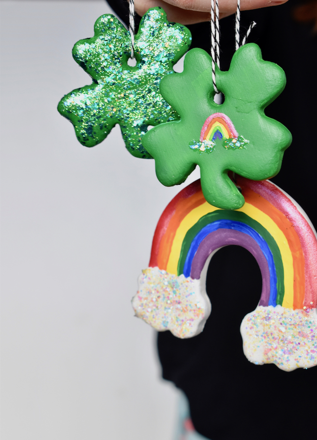 DIY clay lucky charms_st patricks day