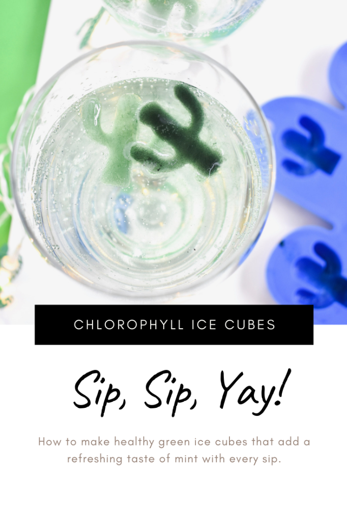 CHLOROPHYLL ICE CUBES