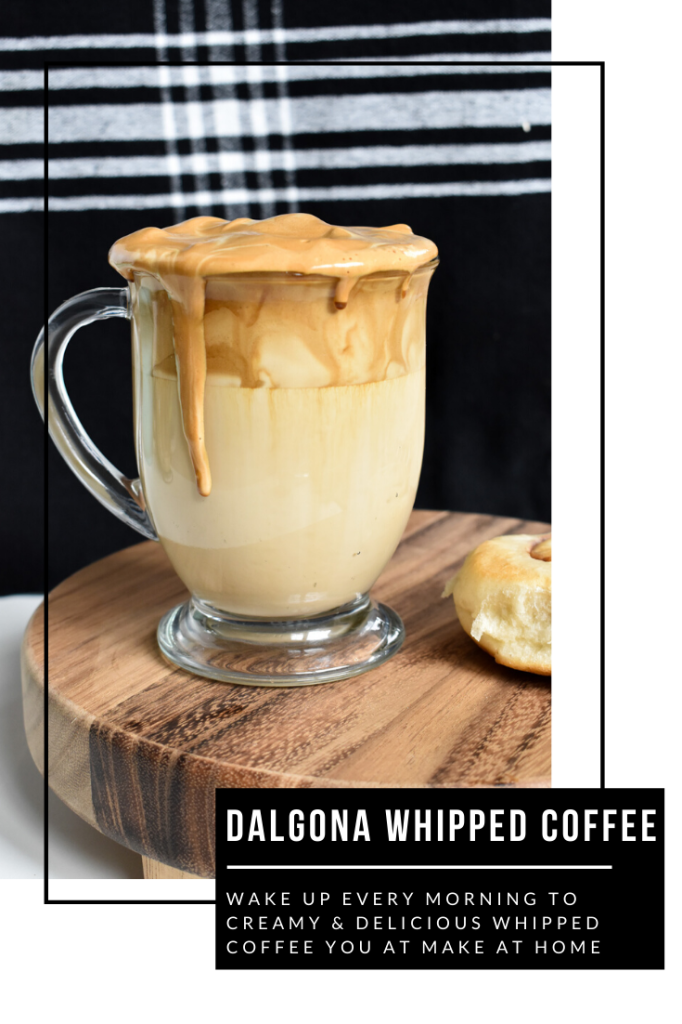 dalgona whipped coffee at home during COVID19
