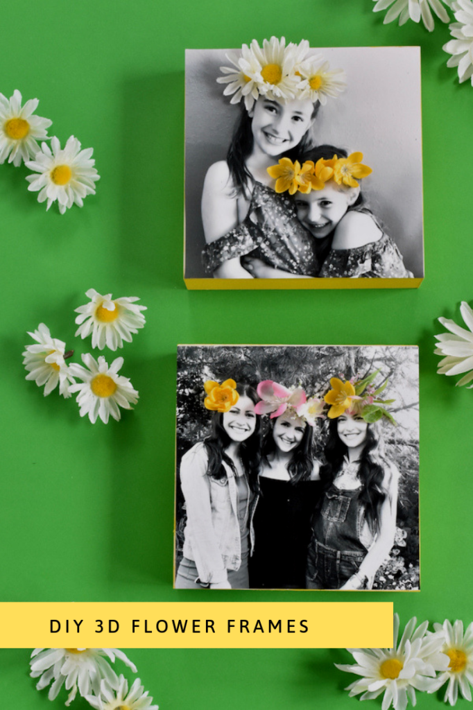 DIY 3D FLOWER FRAMES