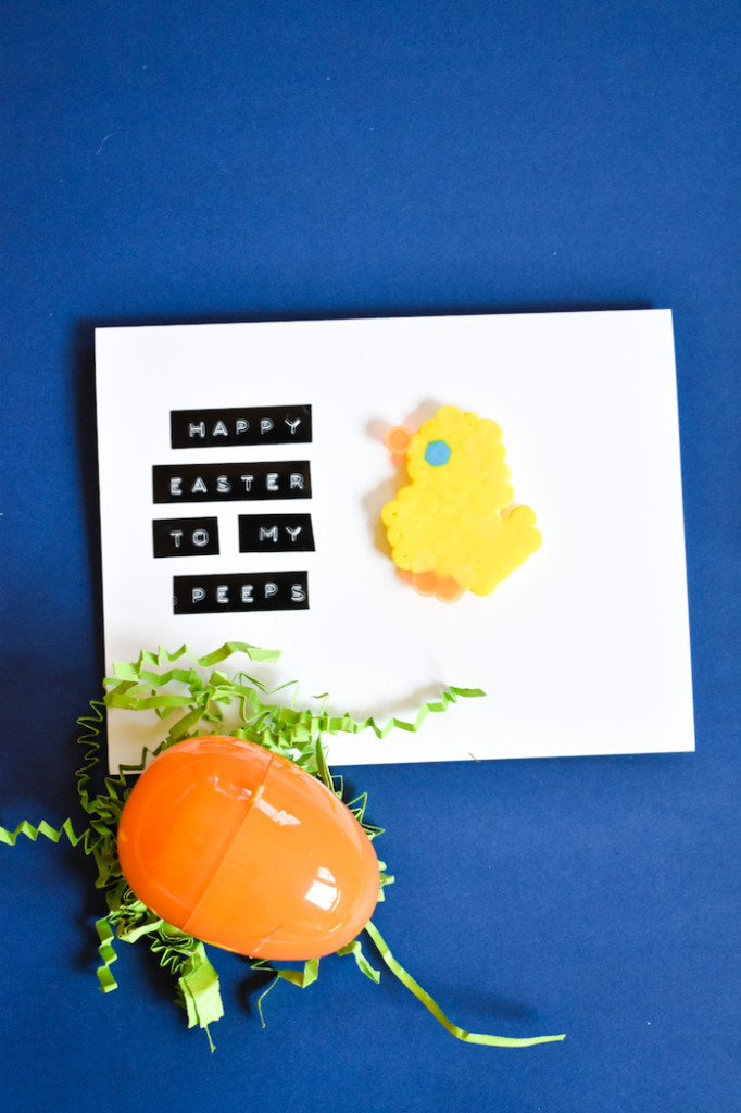 DIY perler bead art for easter-happy snail mail for kids